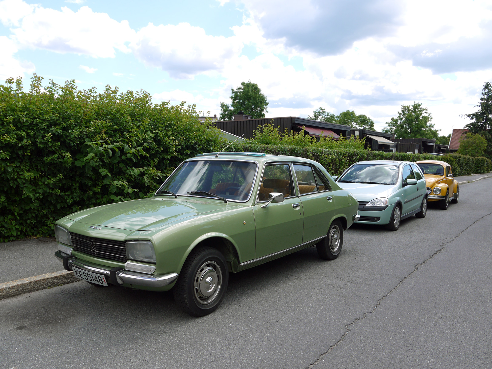 1977 Peugeot 504 GL Mint parked classic cars Oslo