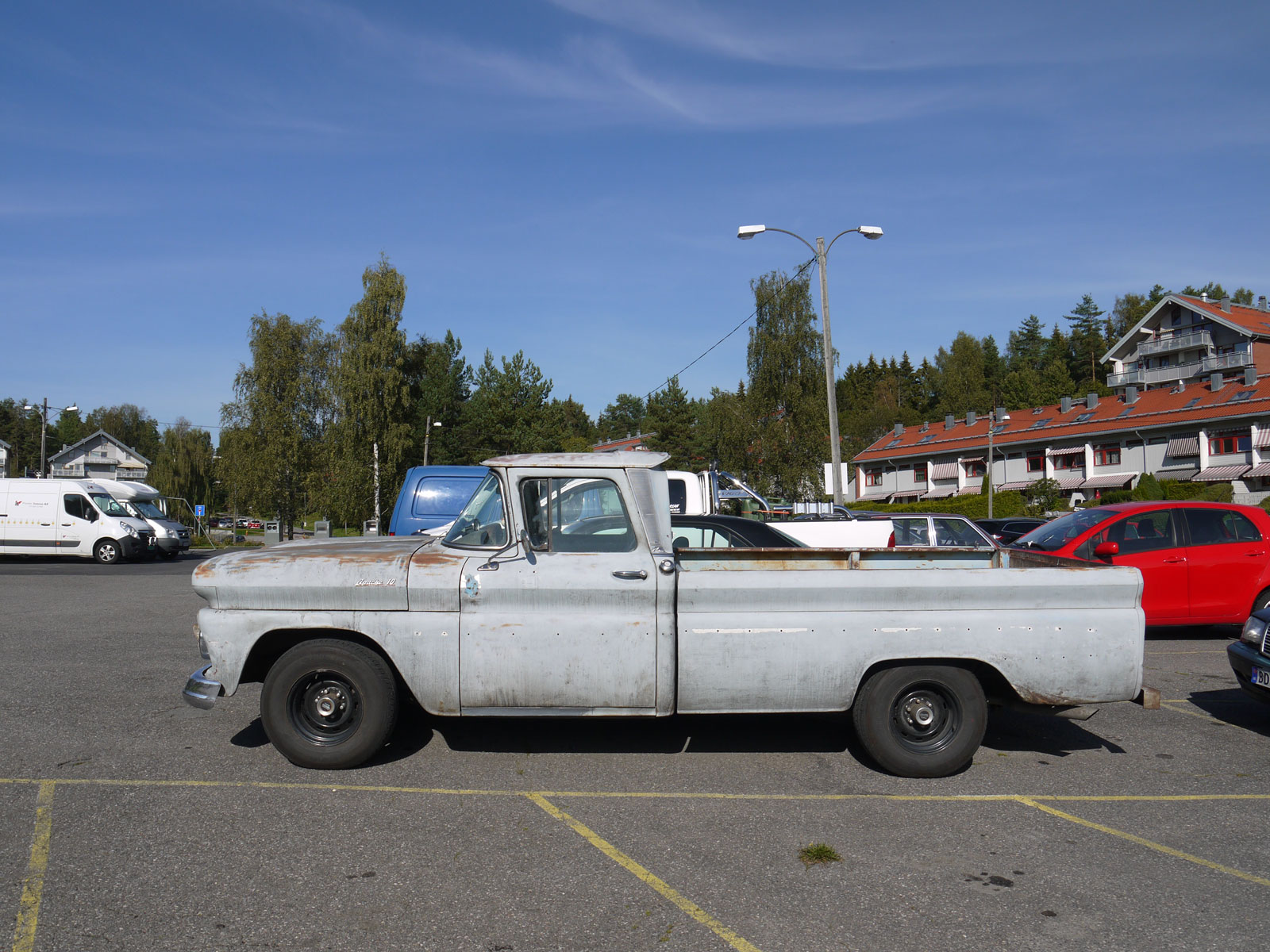 1961 Chevrolet Fleetside Pickup Oslo Norway parked cars