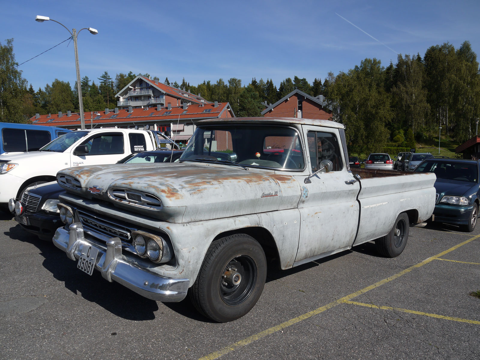 1961 Chevrolet Fleetside Pickup Oslo Norway parked cars