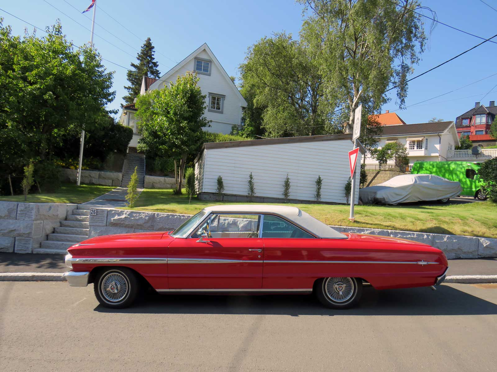 1964 Ford Galaxie 500 XL Classic car parked Oslo Norway