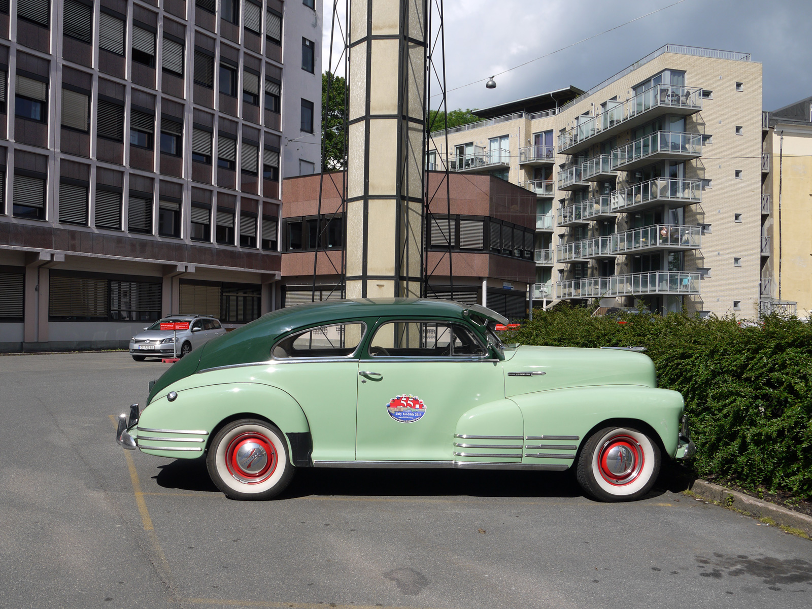 1948 Chevrolet Fleetline Fleetmaster Oslo Norway classic car street parked