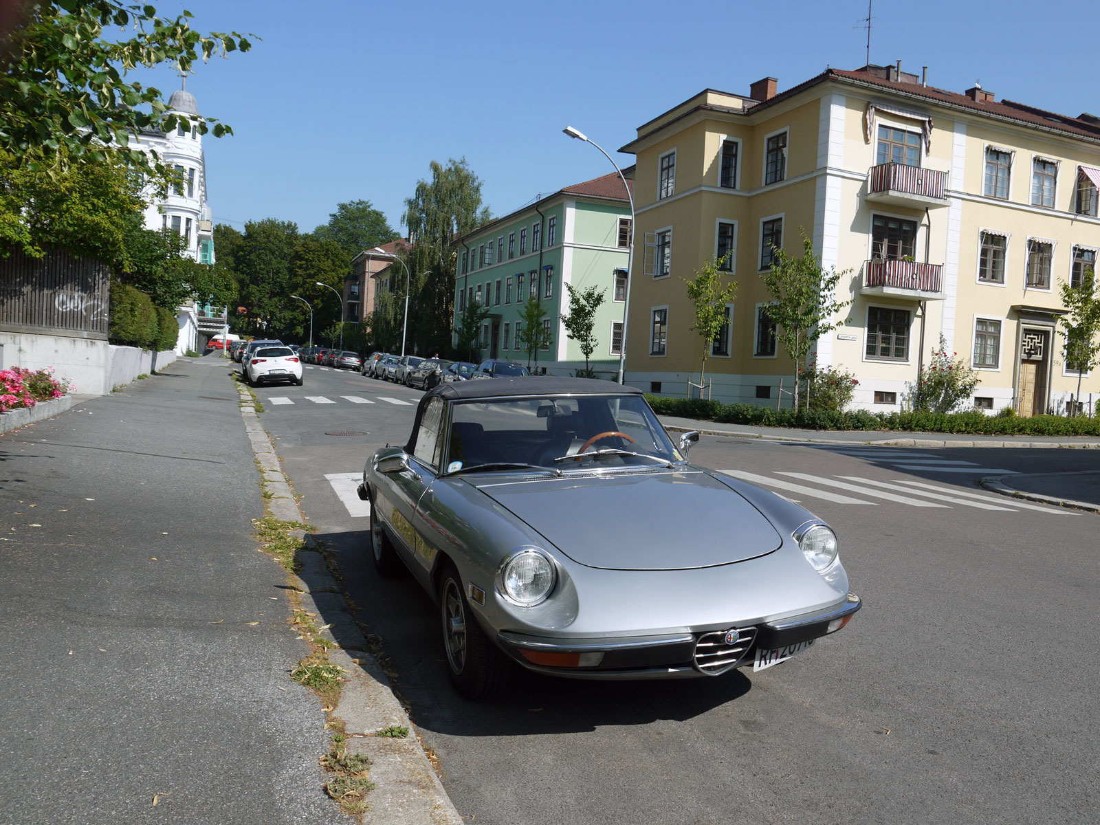 1973 Alfa Romeo Spider Italian sports car Oslo Norway