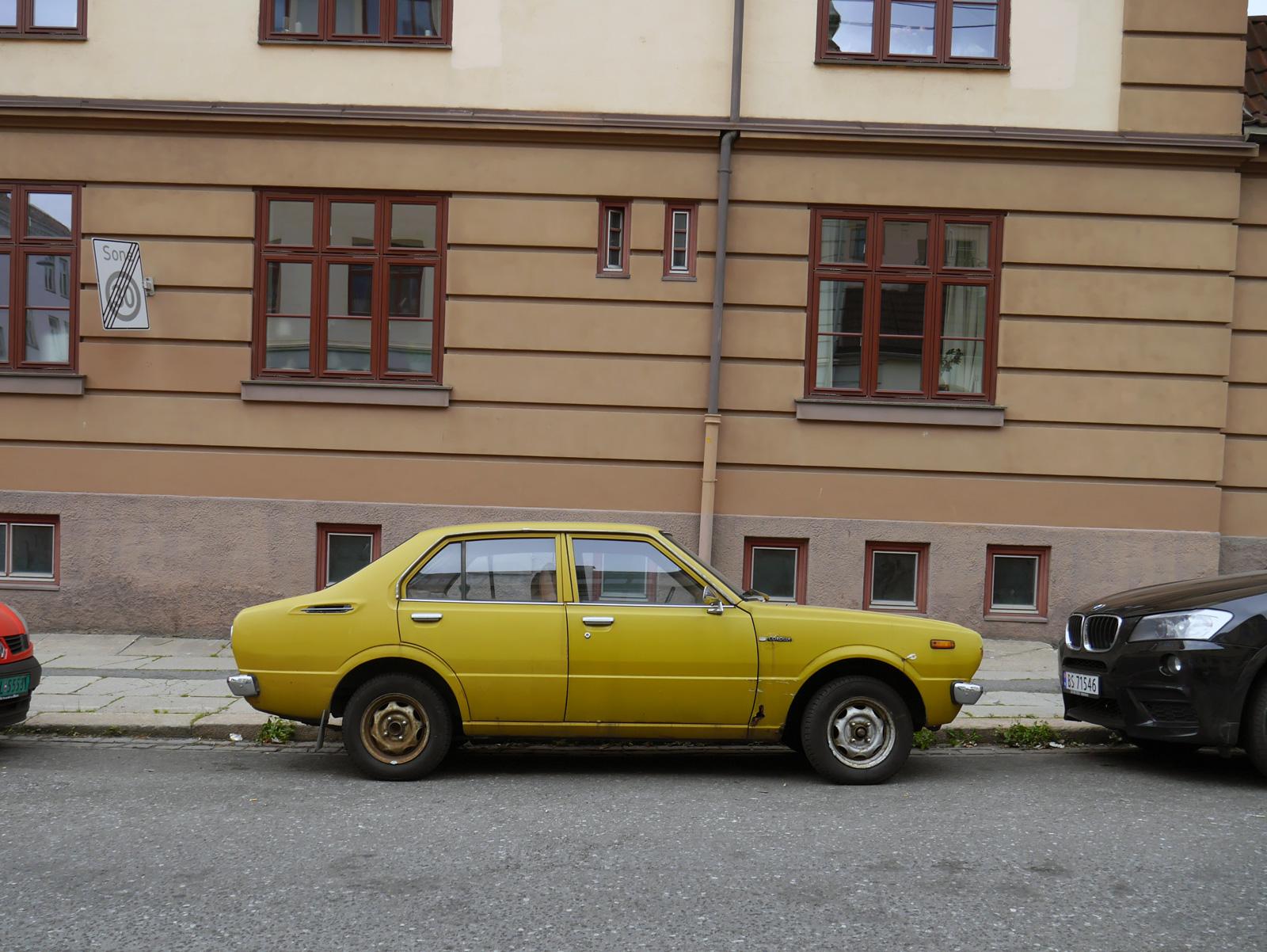 1976 Toyota Coralla Deluxe E30 Japanese classic cars Oslo Norway