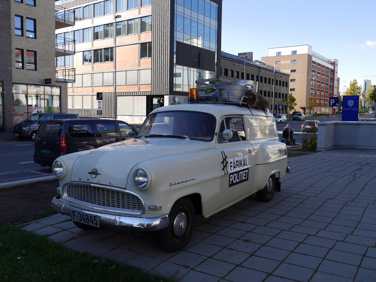 1956 Opel Olympia Rekord panel van sedan delivery oslo