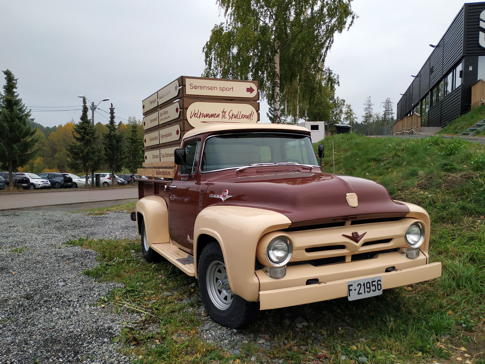 1956 Ford F-100 Pickup old parked cars