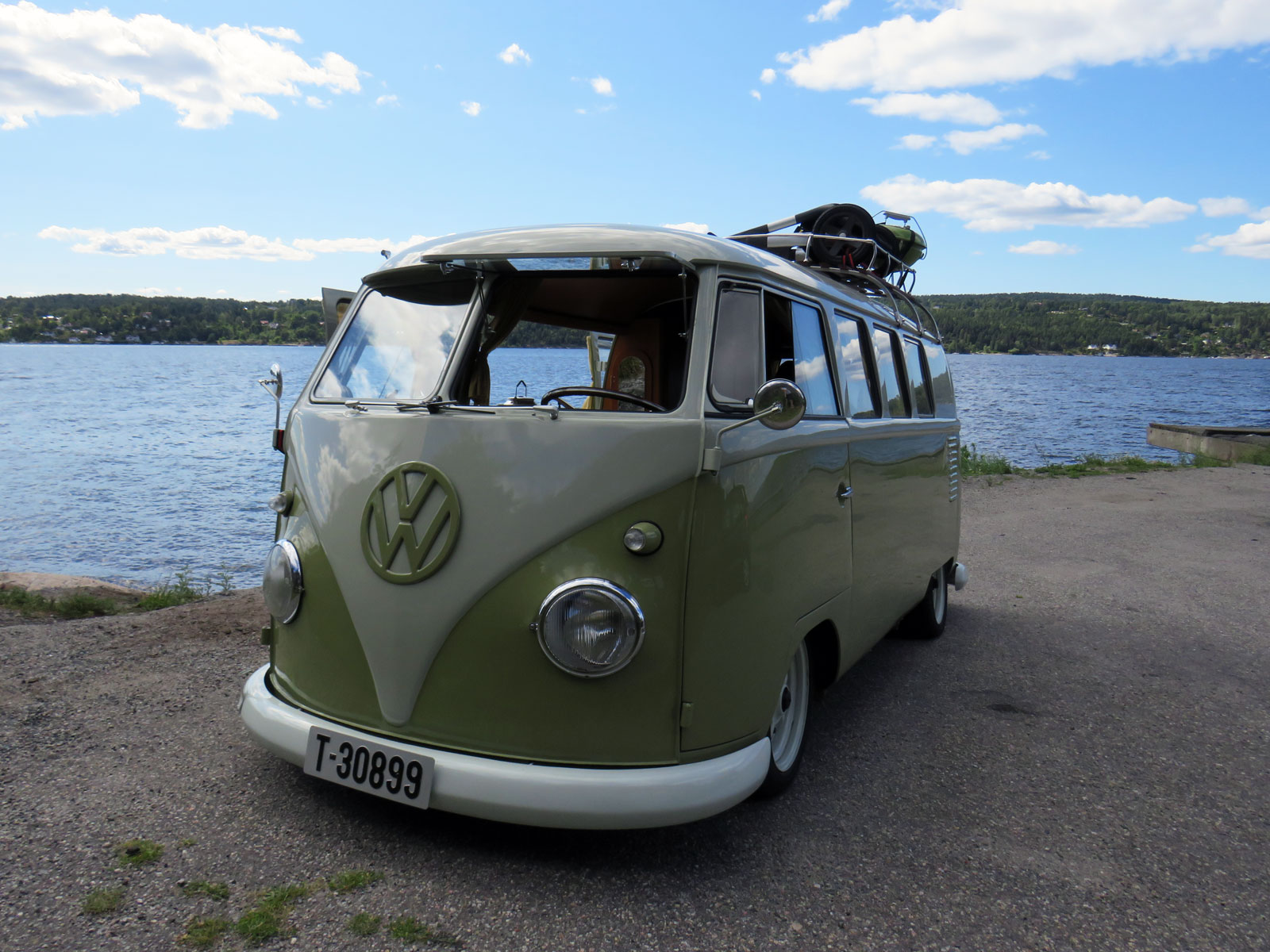 1959 Volkswagen Transporter Type 2 bus camper old parked cars